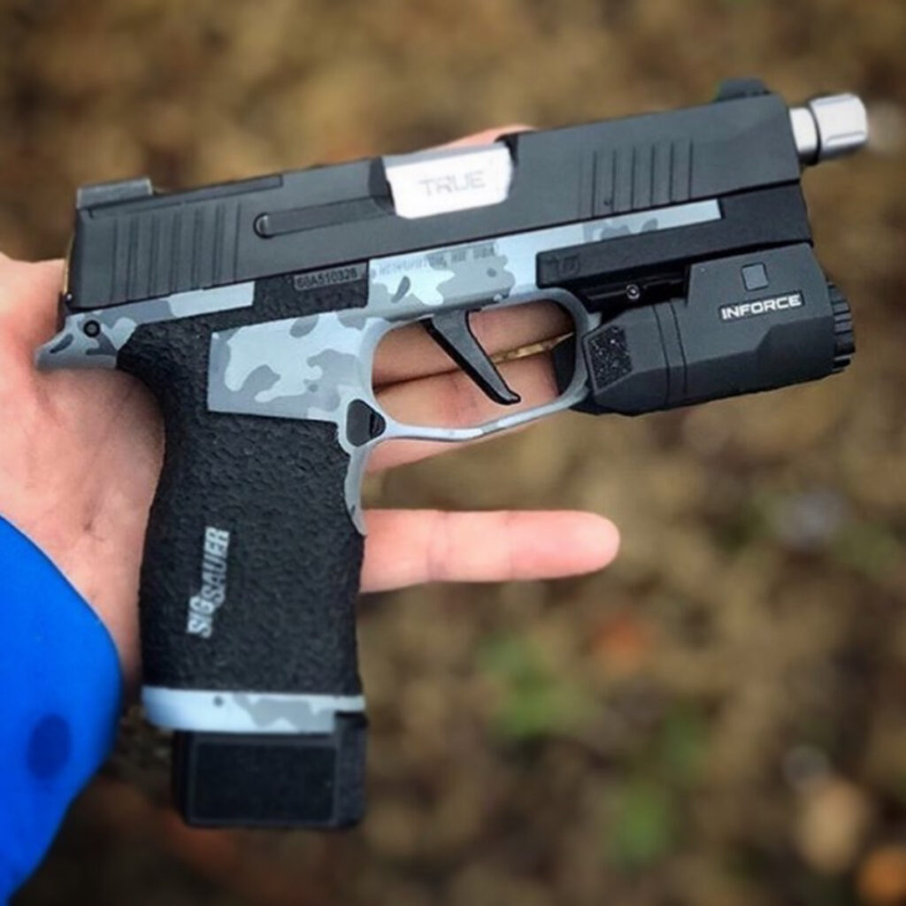 sig p365 xl stippling and cerakote applicator in wny