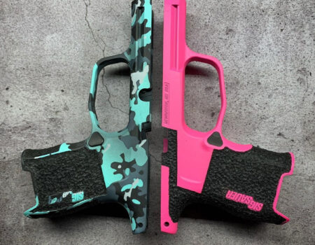 Tiffany Camo and Pink with Stippling