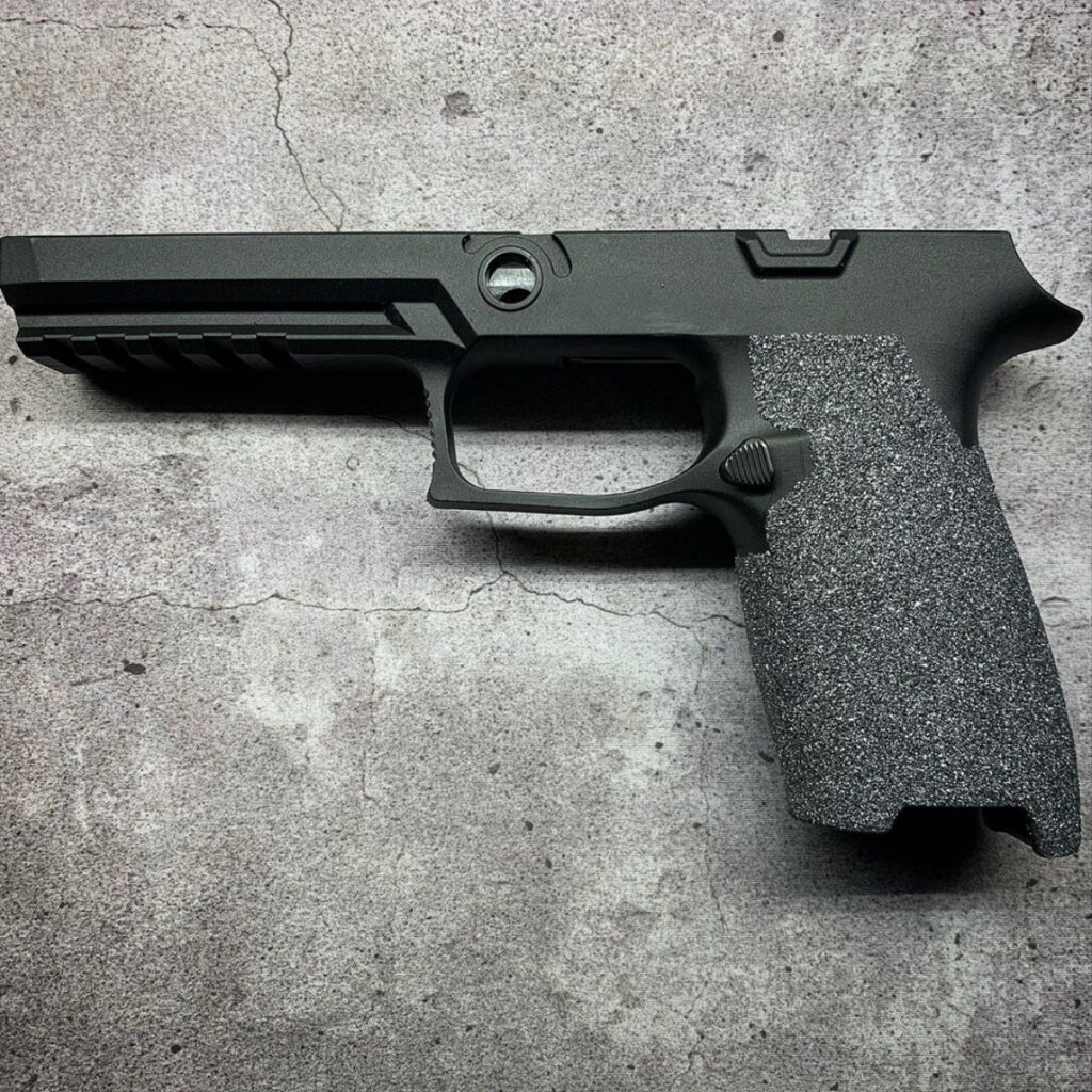 Silicone Carbide grip modification on Sig P320