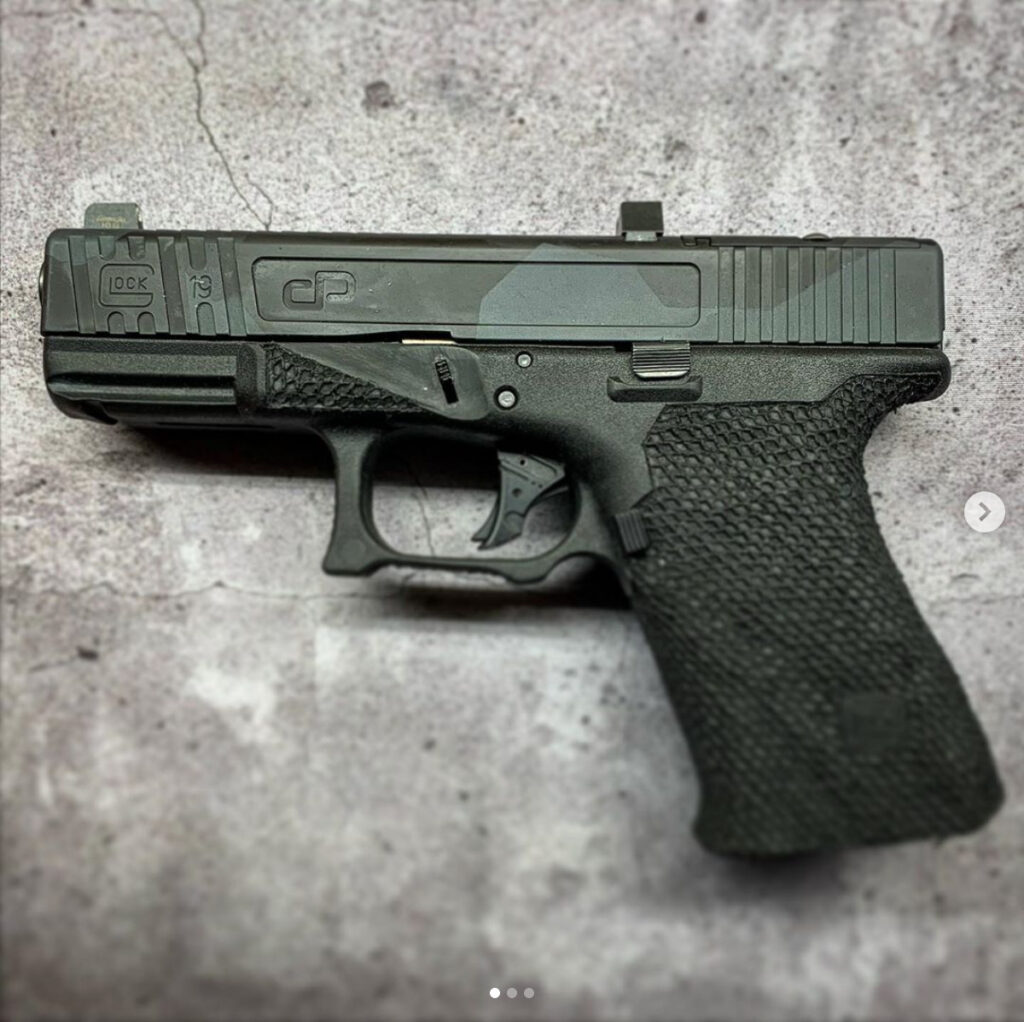 custom glock with slide modification and stippling in buffalo ny